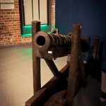 """To Board!"" exhibition: Powder chamber cannon (fowler), copy, the beginning of 20th c., photo W. Jóźwiak"