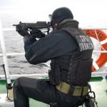 Funkcjonariusz Wydziału Zabezpieczenia Działań MOSG - Fot. A. Ciejpa 1